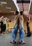Flamencolehrer Miguel Vargas in der Flamencokunstmitte 'La Merced 'in Cadiz stockbild