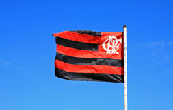 Flamengo flagga Rio de Janeiro Brazil Royaltyfria Foton