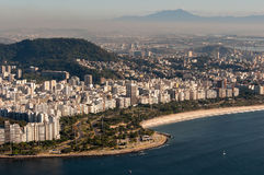 Flamengo plaża w Rio De Janeiro, Brazylia zdjęcia stock