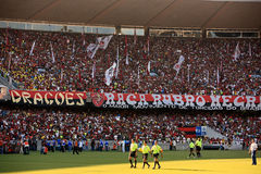 Flamengo supporters maracana stadium Stock Photo