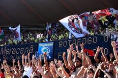 Flamengo supporters maracana stadium Royalty Free Stock Images