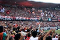 Flamengo supporters maracana stadium Stock Photography