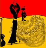 flamenko舞蹈的图象 图库摄影