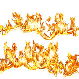 Flames 1. Flames over white background Stock Image
