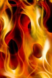 Flames. Picture of flames, like from hell or a campfire Royalty Free Stock Photo