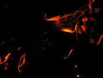 Flames. Orange and red flames Royalty Free Stock Photos
