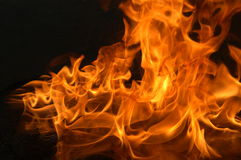 Flames. With a dark background Stock Image