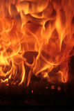 Flames. Of fire in fireplace royalty free stock images