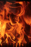 Flames. Of fire in fireplace royalty free stock photos