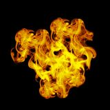 Flames. This is a image with a flame on a black background Stock Photo