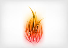 Flames. Abstract flames on the light background Stock Photo