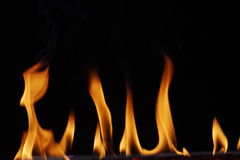 Flames. A close up of raising flames Royalty Free Stock Photos