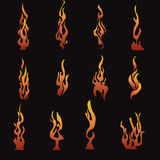 Flames. Vector flame design elements-eps file available Royalty Free Stock Photo