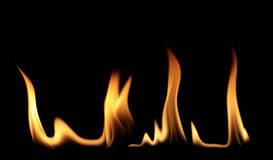 Flames 4 Royalty Free Stock Images
