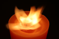 Flames. Candelight in the wind Stock Photos