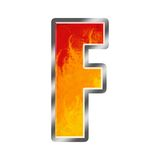 Flames Alphabet Letter F Stock Images