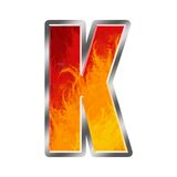 Flames Alphabet Letter K Royalty Free Stock Photography