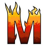 Flames Alphabet Letter M Royalty Free Stock Images