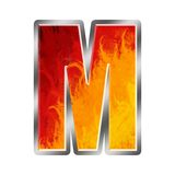 Flames Alphabet Letter M Royalty Free Stock Photos