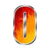 Flames Alphabet Letter O. Set of celebration alphabet letters and numbers Stock Image