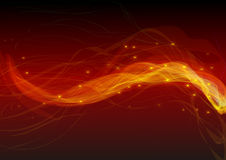 Flames background. The shape of flames, come out many spark of yellow, under the background of the scarlet Stock Images