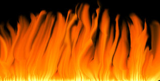 Flames background. Flames against a black background Royalty Free Stock Photo