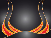 Flames background. Abstract flames on gradient black background - vector illustration Stock Photo