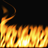 Flames on black Royalty Free Stock Image