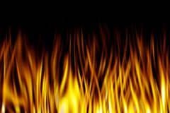 Flames on Black. Fire flames on black background. Flames are vertical with soft detail and good highlights Royalty Free Stock Photo