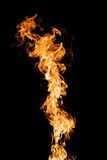 Flames on Black Stock Photography