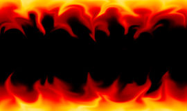 Flames on black background Stock Photos