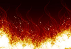 Flames on a black background. Fire Royalty Free Stock Photography