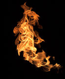 Flames on a black background. Stock Photos