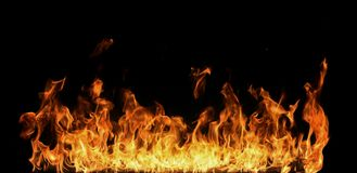 Flames on black Royalty Free Stock Photos