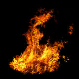 Flames on Black Photographic Background Royalty Free Stock Images