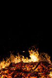 Flames and blaze of big fire. Burning flames and blaze of big fire Royalty Free Stock Image