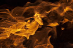 Flames - blurred background Stock Photo