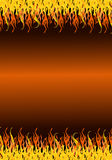 Flames border Stock Photo