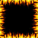 Flames border. A black background with flames around the border Royalty Free Stock Photos