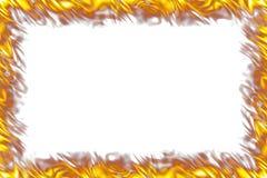 Flames Border on White. Rectangular border of orange and yellow flames on white Stock Photo