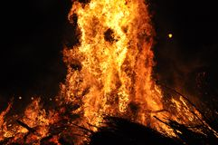 Flames of burning fire Royalty Free Stock Images