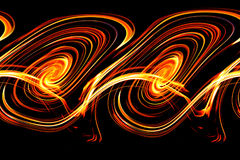 The flames, burning fire. Isolated on black background Royalty Free Stock Images