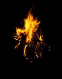 Flames of a campfire Royalty Free Stock Image