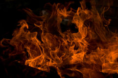 Flames, close-up Royalty Free Stock Images