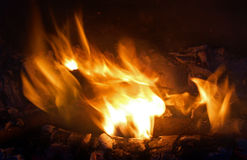 Flames and Embers Royalty Free Stock Photos