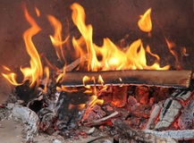 Flames and Embers. Royalty Free Stock Images
