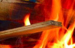 Flames of Fire. In a fireplace royalty free stock image