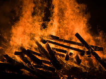 Flames from a fire Stock Image