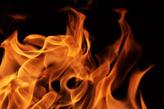 Flames fire Stock Images
