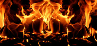 Flames or fire for background Stock Image